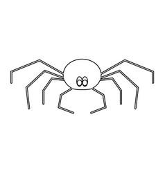 spider the black color icon vector image vector image