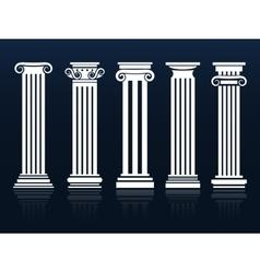 Ancient columns set vector image