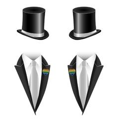 gay couple wedding vector image