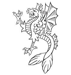 heraldic dragon No9 vector image vector image