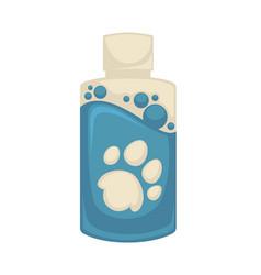 icon of pet shampoo symbol animal care vector image
