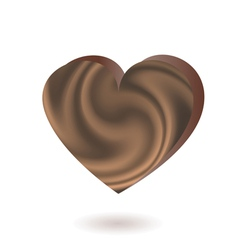 chocolate heart vector image vector image
