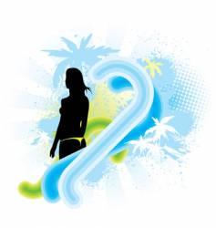 hawaii banner vector image vector image