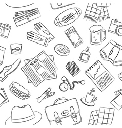 Male things pattern vector image vector image