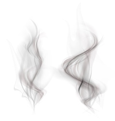 set of black smoke isolated on a white background vector image vector image