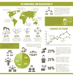 Teamwork business infographic vector image