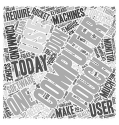 Using Computers Word Cloud Concept vector image vector image