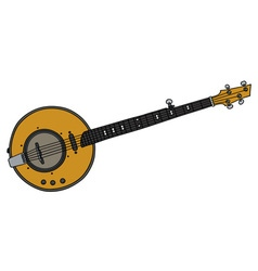 Yellow electric banjo vector image