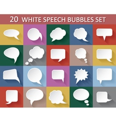 20 speech bubbles with shadows vector image