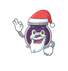 A picture santa grape jam mascot picture style vector