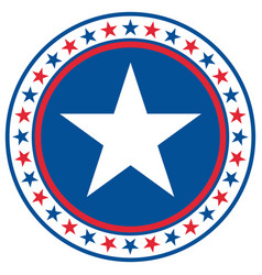 american star symbol sign emblem logo icon vector image