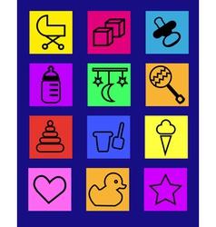 baby icon vector image vector image