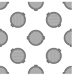 barbecue grill icon isolated seamless pattern on vector image