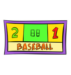 Baseball score icon icon cartoon vector