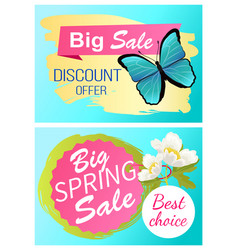 big spring sale 70 off discount promo price offer vector image