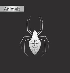 Black and white style icon of araneus vector