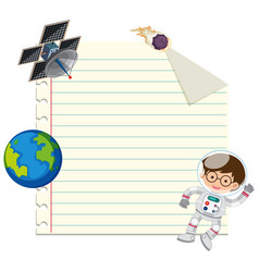 Blank note space theme vector