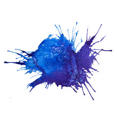 blue watercolor splash stain vector image