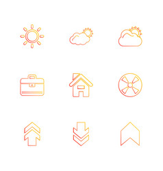 Breifcase industry upload download home vector