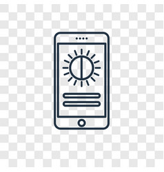 brightness concept linear icon isolated on vector image