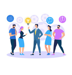 Business training sharing idea office people vector