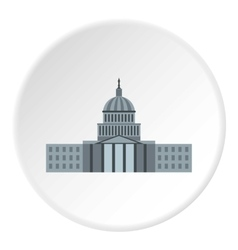Capitol icon flat style vector image