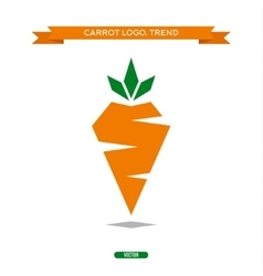 Carrots polygons trend logo icon style sign vector