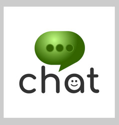 chat app logo vector image