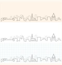 cluj-napoca hand drawn skyline vector image