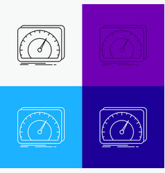 Dashboard device speed test internet icon over vector