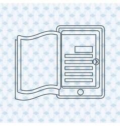 Ebook icon design vector image