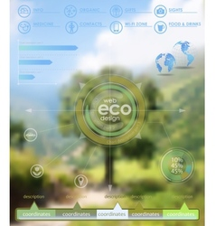 Eco backgroung vector
