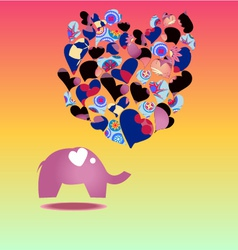 elephant Cartoon elephant in love vector image