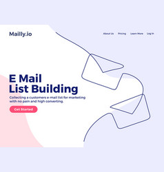 envelopes e mail list building continuous one vector image