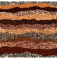 Ethnic strikes pattern in brown colors vector