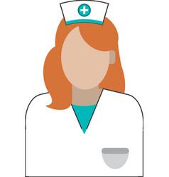 female nurse icon vector image