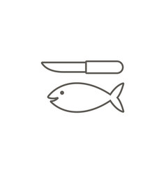 fish and a knife icon simple element from map and vector image