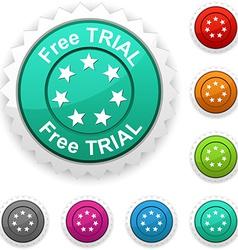 Free trial award vector