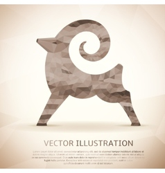 Geometric shape of the Goat Vintage style vector image