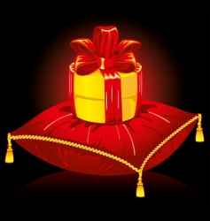 Gift on pillow vector