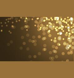 Gold bokeh blur on night luxury background vector
