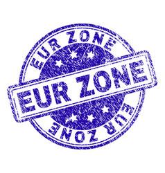 Grunge textured eur zone stamp seal vector
