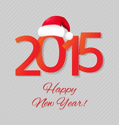 Happy New Year Card With Santa Hat vector image