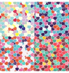 Hearts Seamless Texture vector image