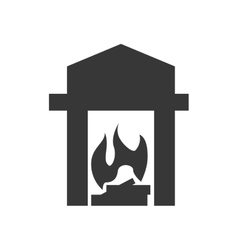 Heater silhouette icon Object design vector