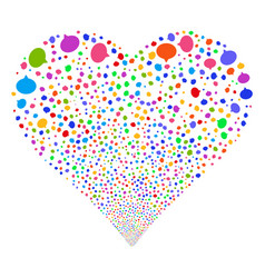 hint fireworks heart vector image