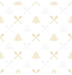 Honey Seamless Pattern vector