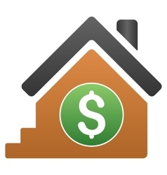House Rent Gradient Icon vector