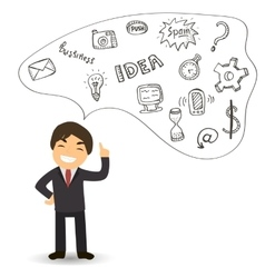 idea for the business man business successful vector image