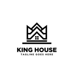 king house logo design inspiration vector image